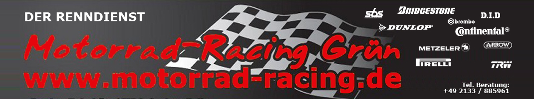 Motorrad-Racing Grün-Logo