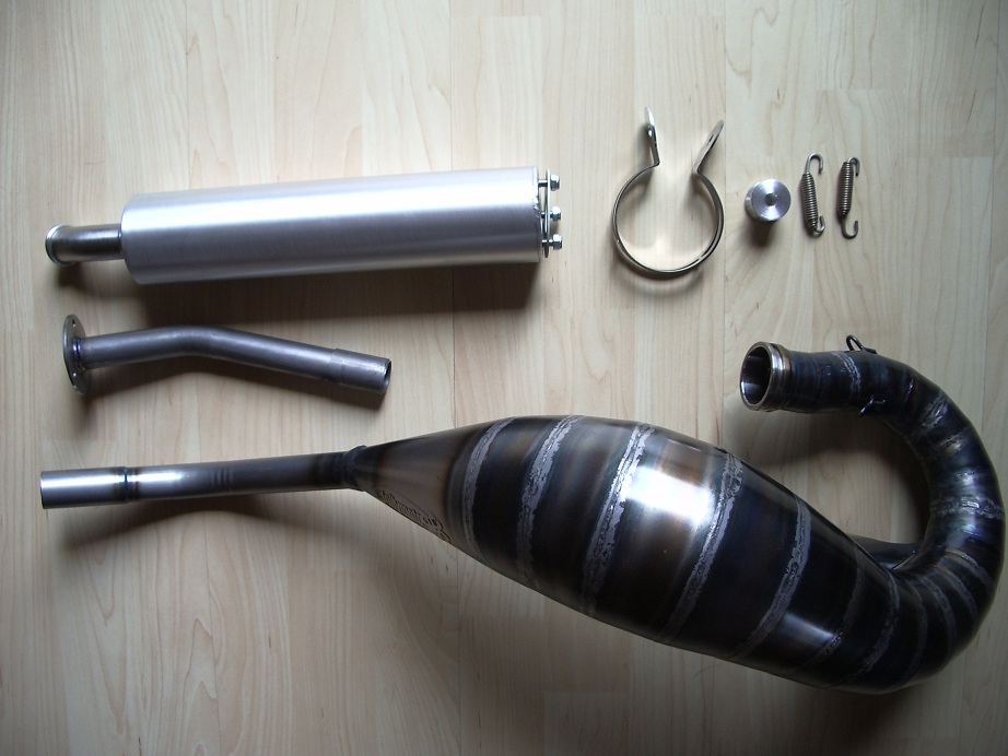 motorrad racing gr n 2 takt auspuffanlage jolly moto f r. Black Bedroom Furniture Sets. Home Design Ideas