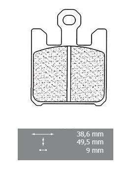 2003 998ccm SBS Bremsbeläge für Suzuki GSXR1000 WVBZ